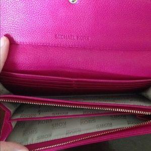 Michael Kors Bags - Fuchsia Michael Kors Wallet